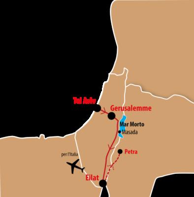 mappa Israman Israele