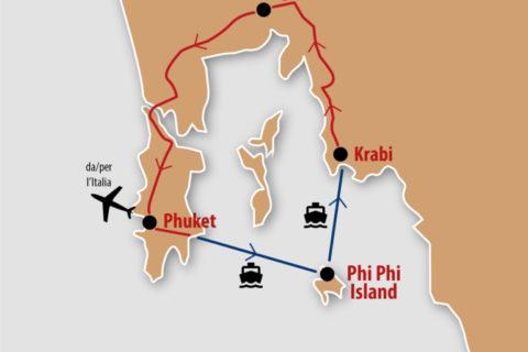 mappa Phuket Thailandia