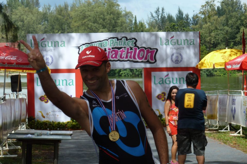 Finishline del Laguna Phuket triathlon