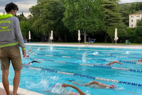 training nuoto online out of water